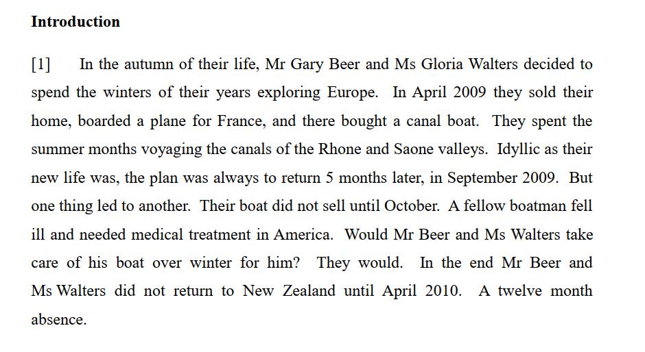 Beer v MSD [2012] NZHC 205