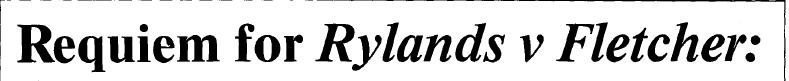 Requiem for Rylands v Fletcher